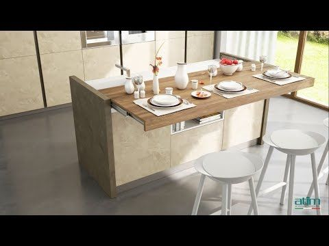 Atim Snack Soft Move Automatic Sliding Table Top Piano Scorrevole Automatizzato Youtube Kitchen Remodel Small Small Kitchen Layouts Kitchen Design