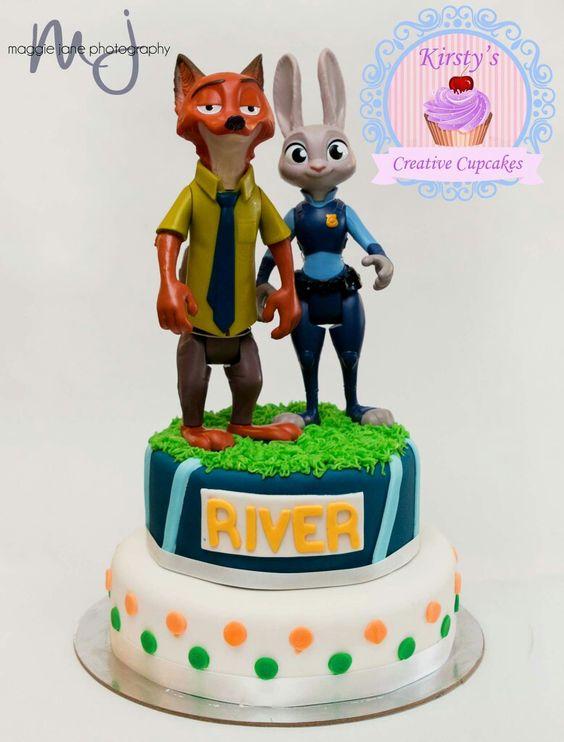Zootopia 2 tier cake: