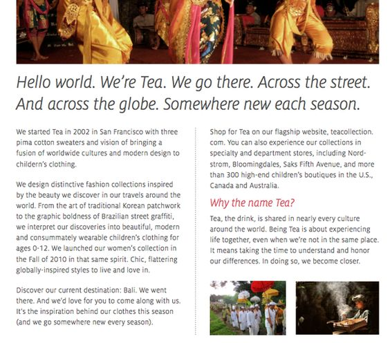 Tea Brand Strategy and Voice (teacollection.com) by Lisa Clapper (yes, that's me), via Behance