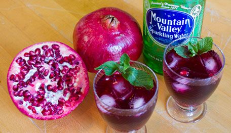 mint simple syrup pomegranate juice pomegranate seeds for women app ...