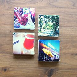 Turn your Instagram photos into artwork using mini 4x4 canvases and mod podge!