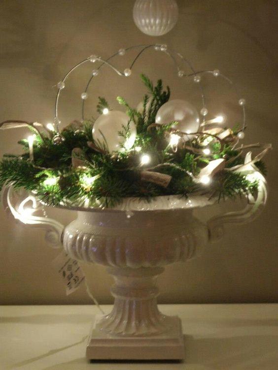 bloemenpoot met oortjes lichten en groen jul pinterest. Black Bedroom Furniture Sets. Home Design Ideas