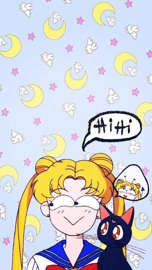 Kawaii Sailor Moon Iphone Wallpaper Ipcwallpapers Iphone Wallpaper Illustration Sailor Moon Crystal Iphone Wallpaper Wallpaper iphone aesthetic sailor moon