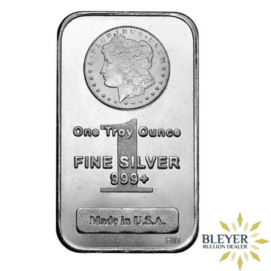 These One Ounce Silver Bars Were Produced By Highland Mint Featuring The Iconic Morgan Silver Dollar Design Each 1oz B Silver Bars Silver Bullion Fine Silver