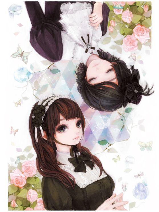 Tags: Anime, Rozen Maiden, Suiseiseki, Souseiseki, Sisters, Headdress, Top Hat
