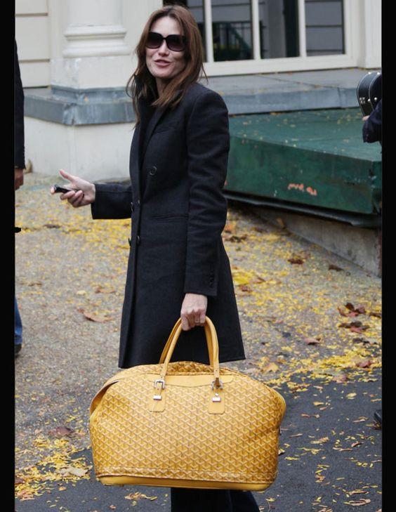 Carla Bruni-Sarkozy et le sac 48h E.Goyard                                                                                                                                                      Plus