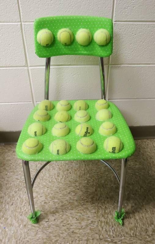 Teacher S Diy Tennis Ball Chairs For Kids With Special Needs Go Viral On Social Media Kids Chairs Teachers Diy Ball Chair