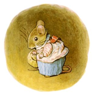 """The Tale of Mrs. Tittlemouse This mouse is one of my favorite Beatrix Potter characters. """"Oh, will my house ever be tidy again?!"""""""