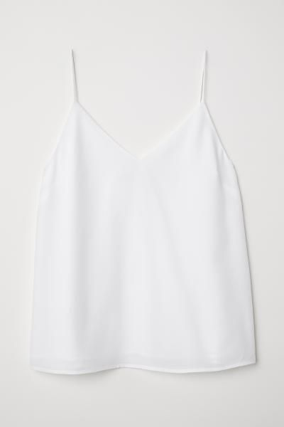 Silk Camisole Top - White - Ladies | H&M US 5