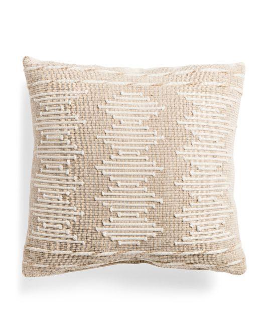 Made In Usa 20x20 Barnstable Pillow Throw Pillows Beige Throw Pillows Pillows Pillows made in usa