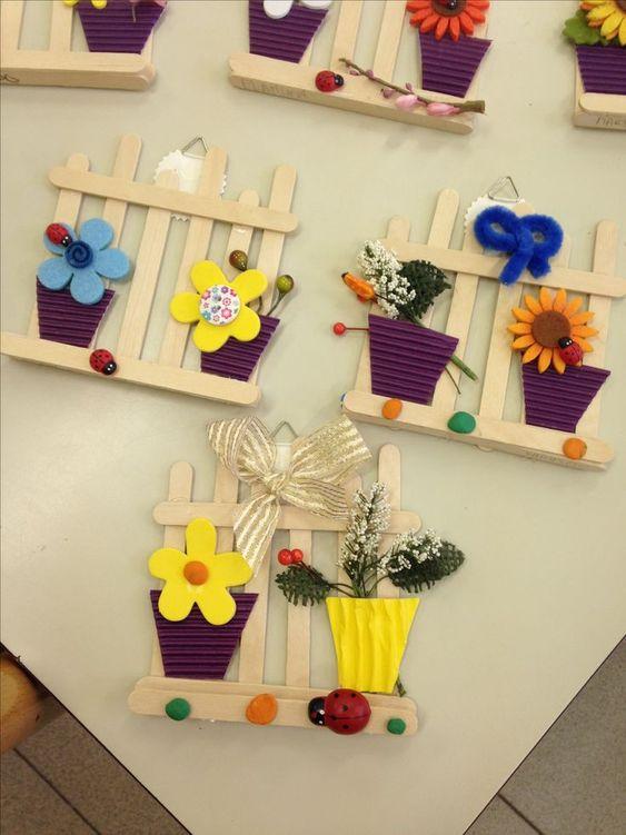 Mini Garten mit Eisstäbchen