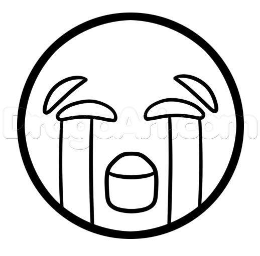 How To Draw Crying Emoji Emoji Pinterest Colorante