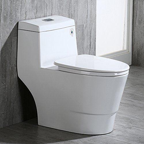 Top 10 One Piece Toilets Of 2020 Modern Toilet Wood Bridge Dual Flush Toilet
