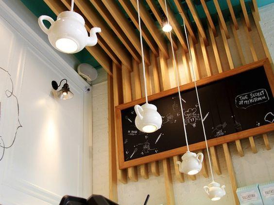 Lamparas cafeteria forma de tetera let 39 s have a tea - Lamparas para cafeteria ...