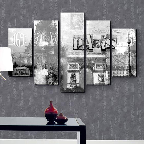 grande toile polyester sur chassis paris tableau. Black Bedroom Furniture Sets. Home Design Ideas
