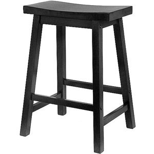 "Saddle Seat Stool 24"", Walnut Finish #walmart"