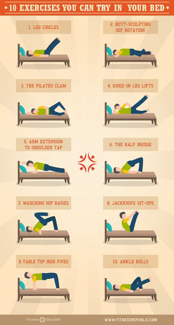 A Whole Bunch of Exercises to Do In Bed