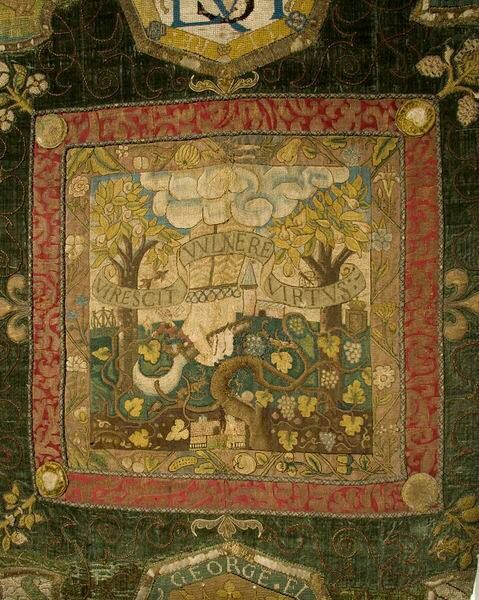 Panel from embroidery completed by Mary Queen of Scotts and Bess of Hardwick