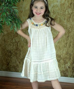 Little Cotton Dress Natural Lucila Yoke Dress  - Infant, Toddler & Girls by Little Cotton Dress #zulily #zulilyfinds