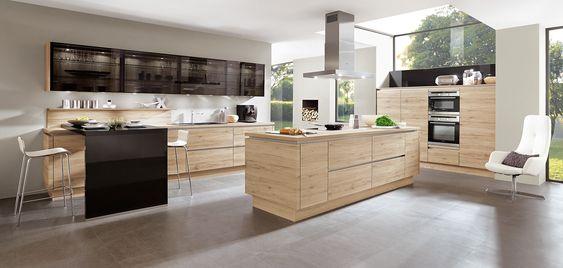 RIVA 893, Sanremo oak reproduction, (natural living, LINE N - nobilia küchen arbeitsplatten