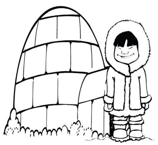 A Cold Girl In Front Of Igloo Coloring Picture Coloring Pictures Animal Coloring Pages Coloring Pages For Kids