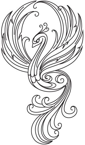 Quilling Line Art : Firebird design uth from urbanthreads dibujos