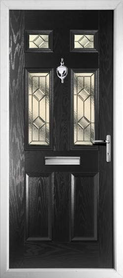 New black front door. Like this design? Live In Design provides a wide range of stunning PVCu Doors! http://www.live-in-design.co.uk/pvcu_doors_eastleigh.html
