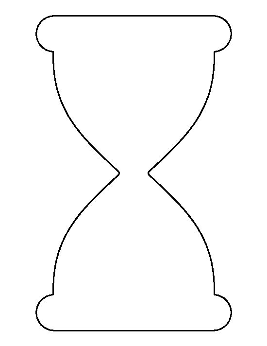 Hourglass pattern. Use the printable outline for crafts, creating ...