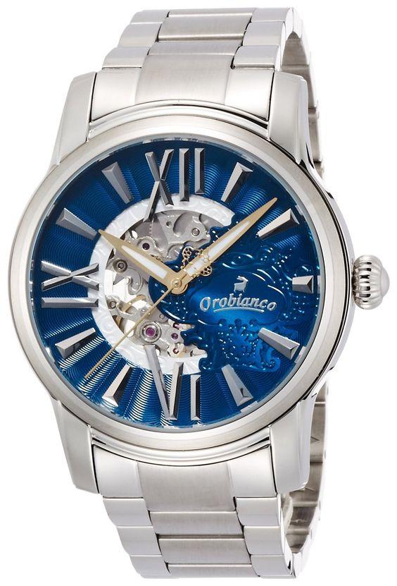 """Amazon.co.jp: [オロビアンコ タイムオラ]Orobianco TIME-ORA オラクラシカ 40本限定""""アズーリブルー"""" OR-0011-501 【正規輸入品】: 腕時計通販"""