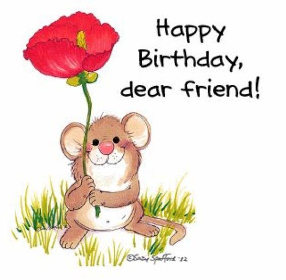 Happy birthday dear friend, Happy birthday and Happy on Pinterest