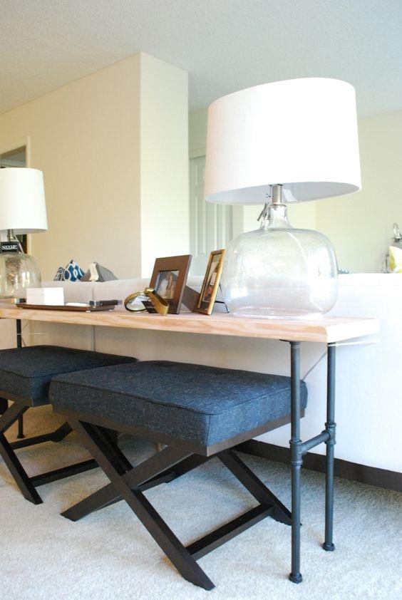 industrial bar and love seat on pinterest. Black Bedroom Furniture Sets. Home Design Ideas