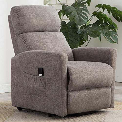 Enjoy Exclusive For Anj Power Lift Recliner Chair Elderly Remote Control Heavy Duty Reclining Sofa Soft Fabric Living Room Chair Plush Padding Seat Grey Onl In 2020 Recliner Chair Living Room