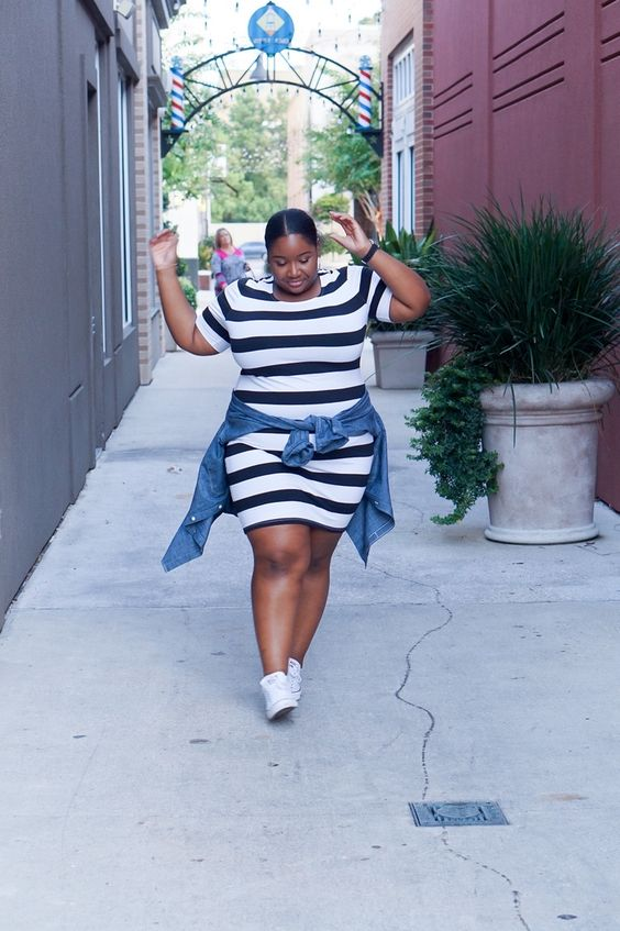Fitted Stripes on Plus Size Women? — From Head To Curve