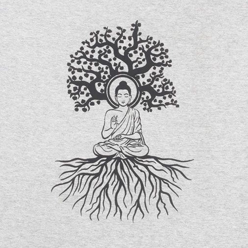 so above so below. Image of a buddha sitting in meditation