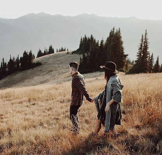 A shot of the couple like this in the woods/countryside would suit our indie genre