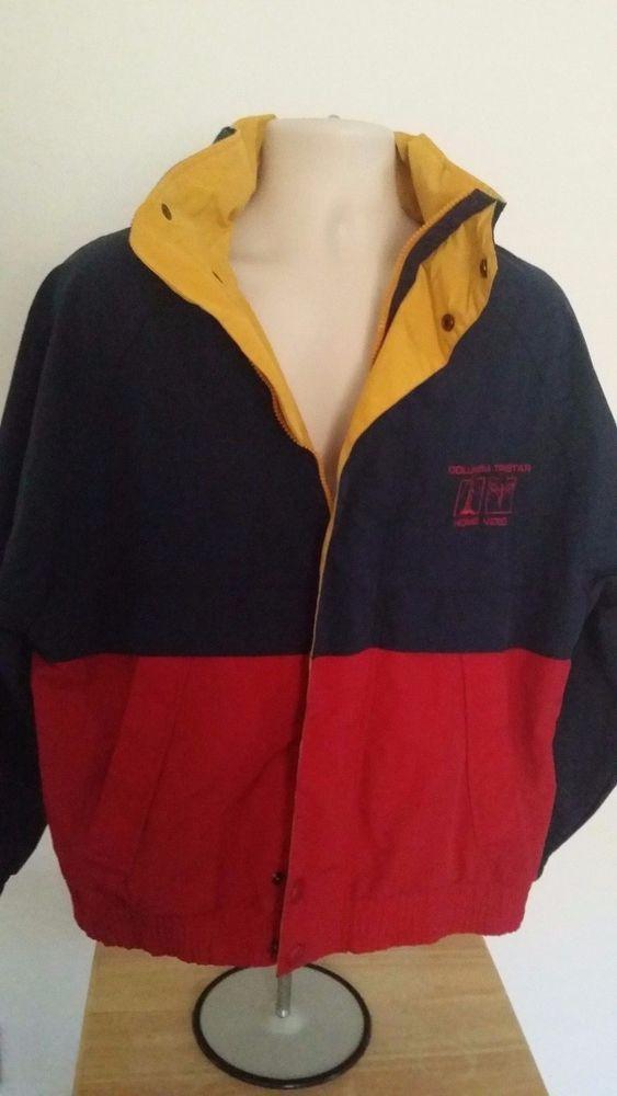 CYRK CLOTHING COMPANY Men&39s Rain Jacket w/Hood M Blue Red Yellow