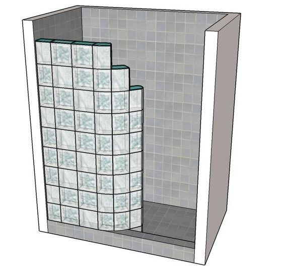 How To Make A Glass Block Shower Wall Google Search Remodel Ideas Pinterest Shower Walls