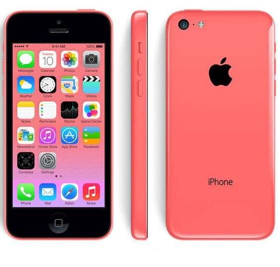 iPhone 5C pink colour scheme - front, side and rear aspects. Buy the pink iPhone 5C at the cheapest prices with the best contract deals at http://www.phonesltd.co.uk/Apple/iPhone_5C_8GB_Pink_Deals/
