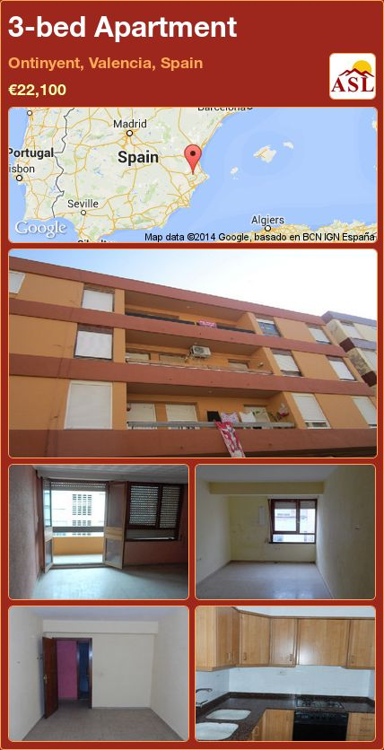 3-bed Apartment in Ontinyent, Valencia, Spain ►€22,100 #PropertyForSaleInSpain