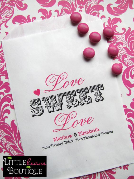 Wedding Candy Bags Love Sweet Love Favor by LittlebeaneBoutique, $19.75