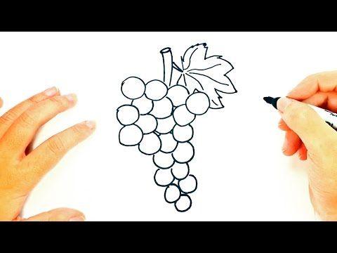 How To Draw Grapes Grapes Easy Draw Tutorial Youtube Uva Dibujo Racimos De Uvas Uvas