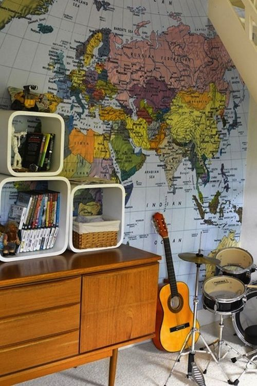 DIY Art Diy Art Wallpaper And Wall Murals - Boys room with maps