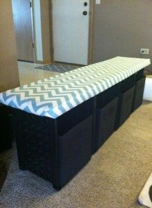 Classroom reading bench using zip ties and plastic crates- with directions!
