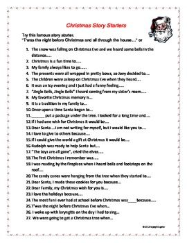 Christmas writing activities for 6th grade