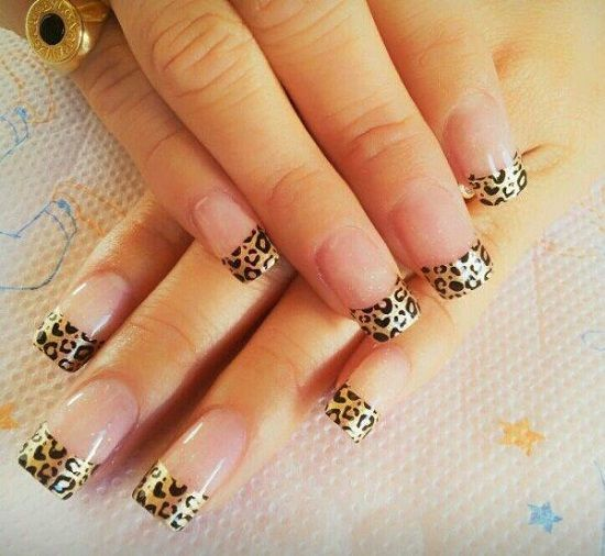 If A Full Animal Print Nail Isn T Your Thing No Problem Just Do The Tips Trendy Nail Art Animal Print Nails Cheetah Print Nails