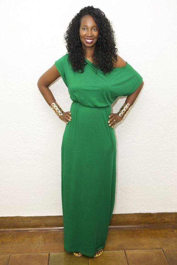 DIY emerald green maxi dress #prettyTallstyle a tall women's fashion and life style blog