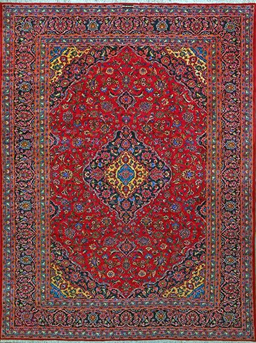 9 10 X 12 10 Kashan Hand Knotted Persian Rug In 2020 Hand Knotted Persian Rug Persian Rug Rugs