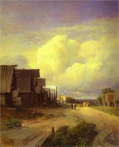 Street in a Village - Fyodor Vasilyev