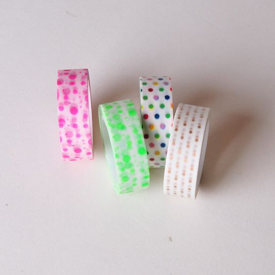 Small Polka Dots Washi Tape by StripeParty on Etsy, $2.50