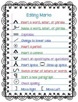 Polishing Writing: Editing Symbols and Tips for Writing on the Computer